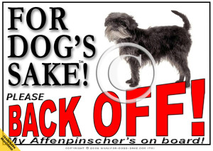 Affenpinscher Bumper Sign