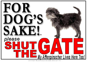 Affenpinscher Gate Sign